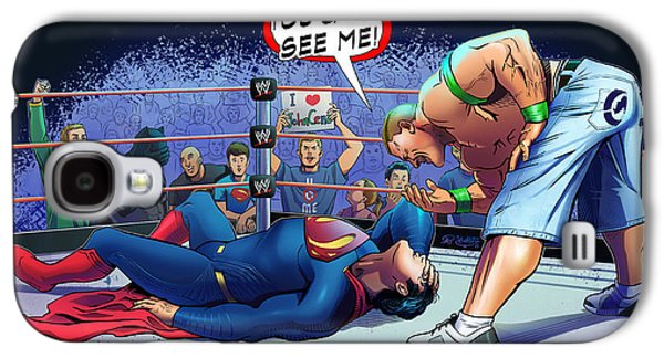 John Cena Vs Superman Galaxy S4 Case by Khaled Alsabouni