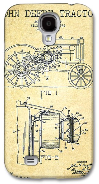 John Deere Tractor Patent Drawing From 1934 - Vintage Galaxy S4 Case by Aged Pixel