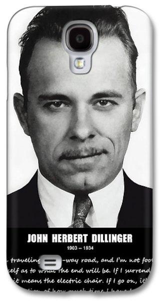 Lore Galaxy S4 Cases - JOHN DILLINGER -- Public Enemy No. 1 Galaxy S4 Case by Daniel Hagerman