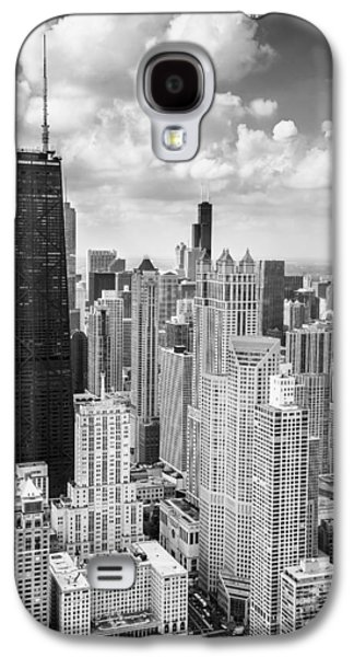 John Hancock Building In The Gold Coast Black And White Galaxy S4 Case by Adam Romanowicz