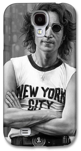 John Lennon Galaxy S4 Case by Andre Koekemoer
