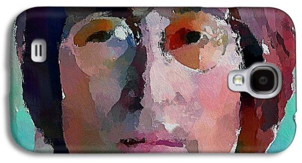 Beatles Galaxy S4 Cases - John Lennon Colors 1 Galaxy S4 Case by Yury Malkov