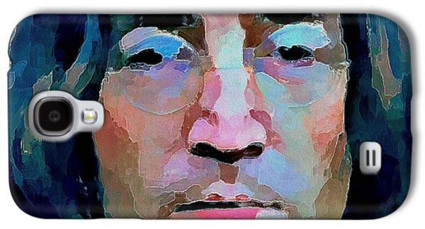 Beatles Galaxy S4 Cases - John Lennon Colors 2 Galaxy S4 Case by Yury Malkov