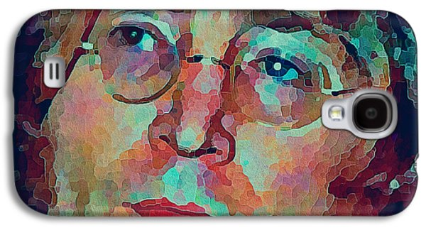 Beatles Galaxy S4 Cases - John Lennon Colors 3 Galaxy S4 Case by Yury Malkov
