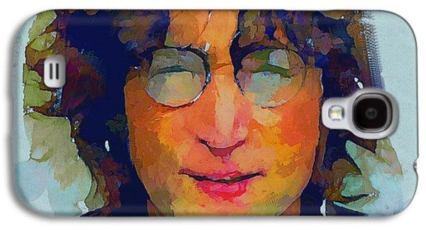 Beatles Galaxy S4 Cases - John Lennon Colors 4 Galaxy S4 Case by Yury Malkov