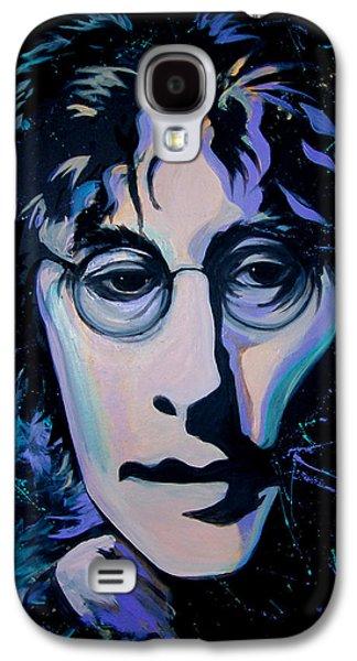 Beatles Galaxy S4 Cases - John Lennon - Imagine  Galaxy S4 Case by Apollo Environmental Artist