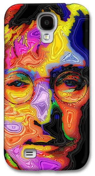Psychedelic Galaxy S4 Cases - John Lennon Galaxy S4 Case by Stephen Anderson