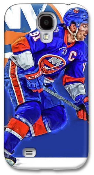 John Tavares New York Islanders Oil Art Series 1 Galaxy S4 Case by Joe Hamilton
