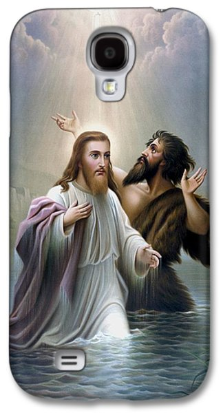 Religious Galaxy S4 Cases - John the Baptist baptizes Jesus Christ Galaxy S4 Case by War Is Hell Store