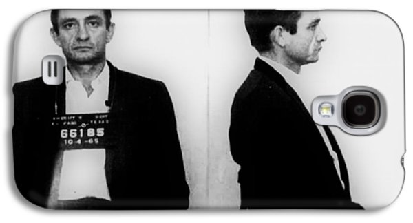 Johnny Cash Mug Shot Horizontal Galaxy S4 Case by Tony Rubino