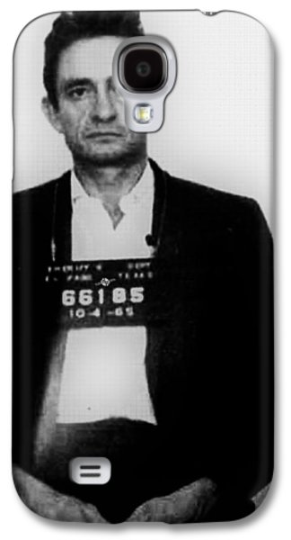 Police Paintings Galaxy S4 Cases - Johnny Cash Mug Shot Vertical Galaxy S4 Case by Tony Rubino