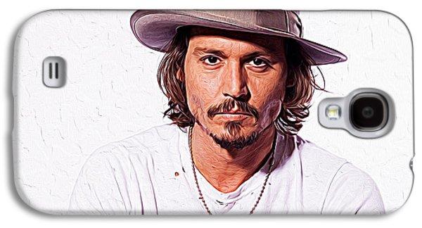 Johnny Depp Galaxy S4 Case by Iguanna Espinosa