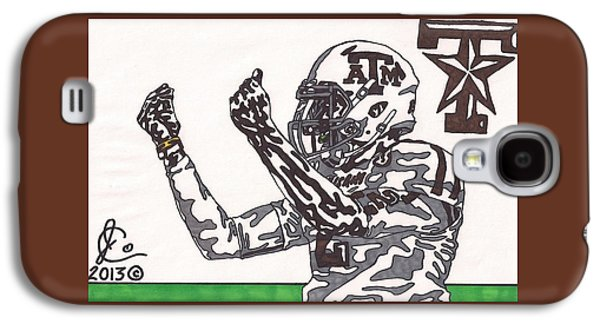 Ink Drawing Drawings Galaxy S4 Cases - Johnny Manziel 10 Change The Play Galaxy S4 Case by Jeremiah Colley