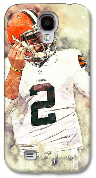 American Football Paintings Galaxy S4 Cases - Johnny Manziel Galaxy S4 Case by Taylan Soyturk
