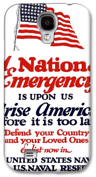 Arise America Before It Is Too Late - Join The Navy Galaxy S4 Case by War Is Hell Store