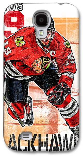Arango Galaxy S4 Cases - Jonathan Toews Galaxy S4 Case by Maria Arango
