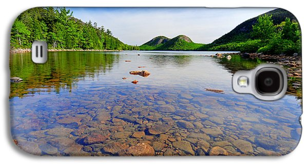 Nature Scene Photographs Galaxy S4 Cases - Jordan Pond and The Bubbles Galaxy S4 Case by Thomas Schoeller