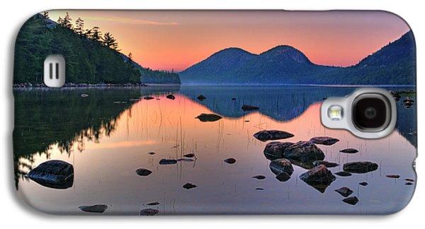 Jordan Photographs Galaxy S4 Cases - Jordan Pond at Sunset Galaxy S4 Case by Thomas Schoeller