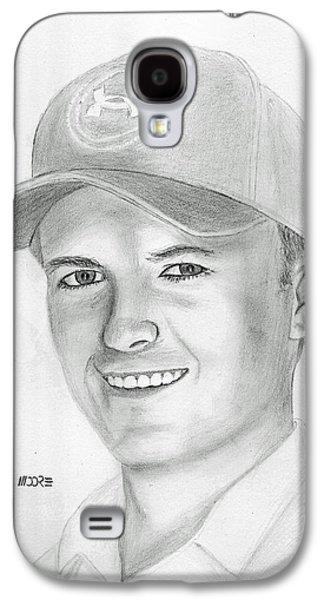 Jordan Drawings Galaxy S4 Cases - Jordan Spieth Galaxy S4 Case by Pat Moore