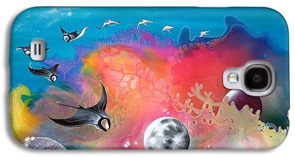 Angel Mermaids Ocean Galaxy S4 Cases - Journey to the Snow Coral Galaxy S4 Case by Lee Pantas
