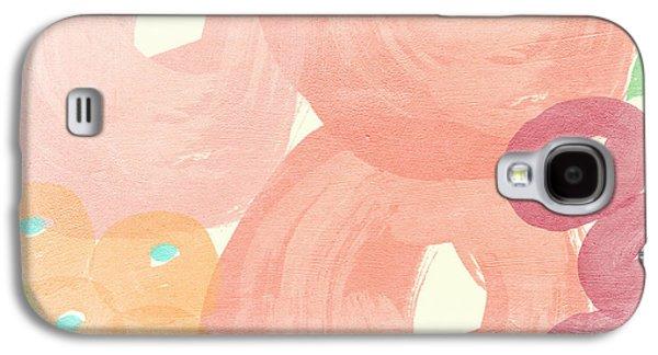 Flora Mixed Media Galaxy S4 Cases - Joyful Rose Garden Galaxy S4 Case by Linda Woods