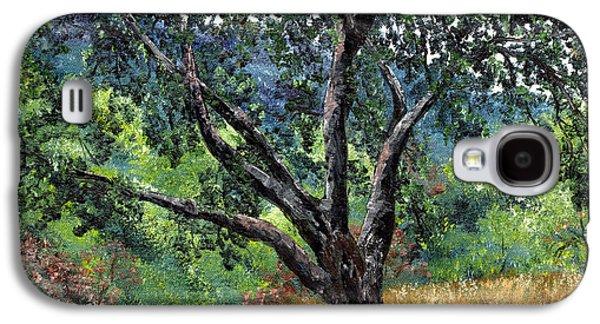 Live Oaks Galaxy S4 Cases - Juan Bautista de Anza Trail Oak Galaxy S4 Case by Laura Iverson