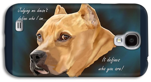 Dogs Digital Art Galaxy S4 Cases - Judging Me Galaxy S4 Case by Sally Lannier