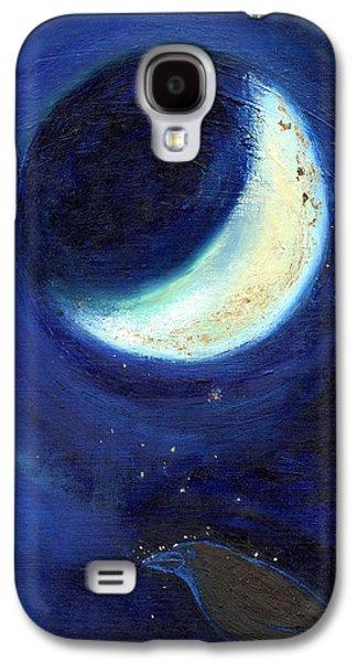 July Moon Galaxy S4 Case by Nancy Moniz