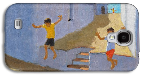 Jumping Off A Wall Galaxy S4 Case by Andrew Macara