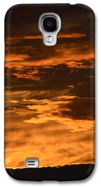Nature Abstracts Galaxy S4 Cases - June Sunset Clouds  Galaxy S4 Case by Lyle Crump