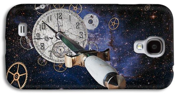 Clock Galaxy S4 Cases - Just Killing Time Galaxy S4 Case by Tom Mc Nemar