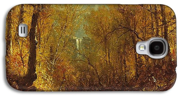The New York New York Galaxy S4 Cases - Kaaterskill Falls Galaxy S4 Case by Sanford Robinson Gifford