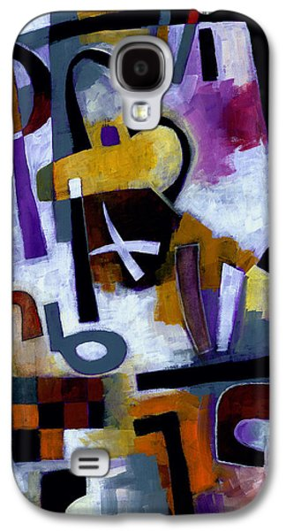 Symbol Paintings Galaxy S4 Cases - Kaffeeklatsch Galaxy S4 Case by Douglas Simonson