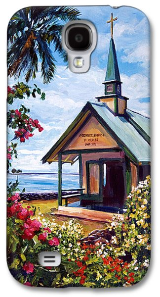 Peter Paintings Galaxy S4 Cases - kahaalu Church Hawaii Galaxy S4 Case by David Lloyd Glover