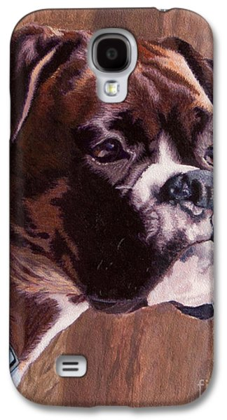Boxer Galaxy S4 Cases - Kahluas Portrait Galaxy S4 Case by Margaret Sarah Pardy