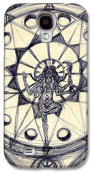 Abstract Digital Drawings Galaxy S4 Cases - Kali Dancing #1 Galaxy S4 Case by Stephen Carver