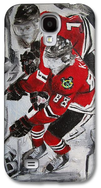 Stanley Cup Paintings Galaxy S4 Cases - Kane Toews 3 Cups Galaxy S4 Case by John Sabey Jr