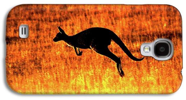 Kangaroo Sunset Galaxy S4 Case by Bruce J Robinson