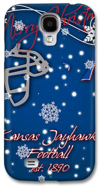 Kansas Jayhawks Christmas Card Galaxy S4 Case by Joe Hamilton