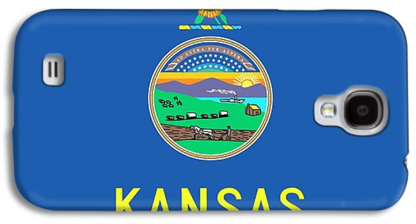 Kansas State Flag Galaxy S4 Case by American School