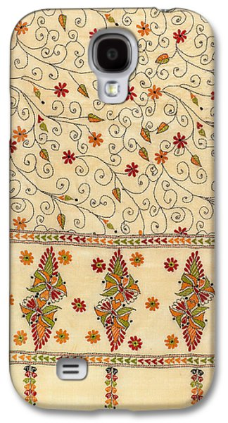 Indian Tapestries - Textiles Galaxy S4 Cases - Kantha Fabric Art Galaxy S4 Case by Anannya Chowdhury