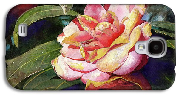 Botanical Galaxy S4 Cases - Karma Camellia Galaxy S4 Case by Andrew King