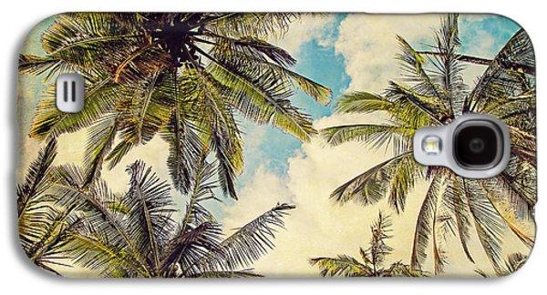 Kauai Island Palms - Blue Hawaii Photography Galaxy S4 Case by Melanie Alexandra Price