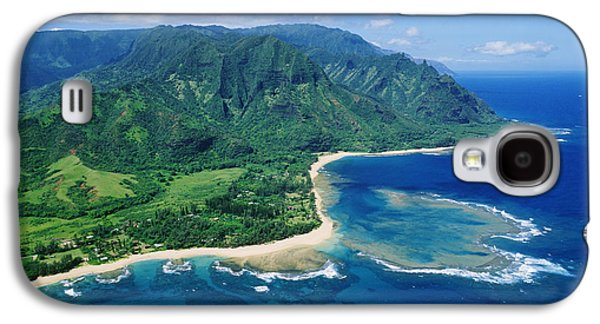 Ocean Art Photos Galaxy S4 Cases - Kauai, Tunnels Beach Galaxy S4 Case by Greg Vaughn - Printscapes