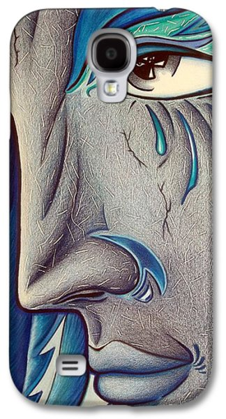 Angel Blues Drawings Galaxy S4 Cases - Keeper of Her Safety Galaxy S4 Case by Danielle R T Haney