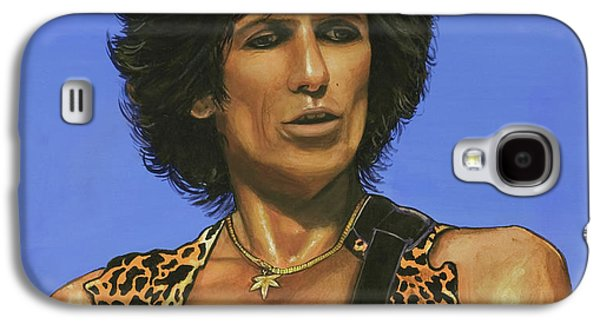 Keith Richards Paintings Galaxy S4 Cases - Keith Richards Galaxy S4 Case by Michael Jager