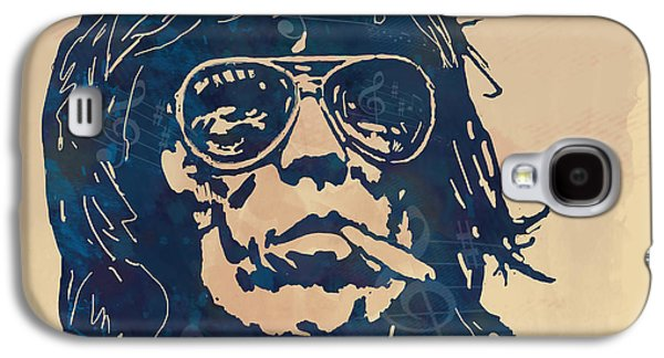 Keith Richards Galaxy S4 Cases - Keith Richards Pop Stylised Art Sketch Poster Galaxy S4 Case by Kim Wang