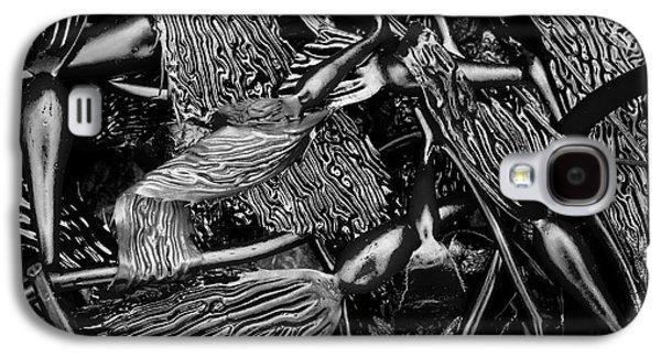 Nature Abstract Galaxy S4 Cases - Kelp I BW Galaxy S4 Case by David Gordon