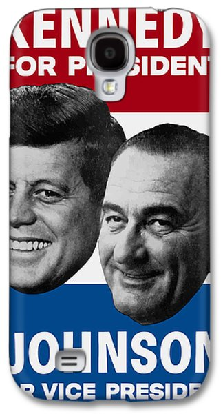 Warishellstore Mixed Media Galaxy S4 Cases - Kennedy And Johnson 1960 Election Poster Galaxy S4 Case by War Is Hell Store