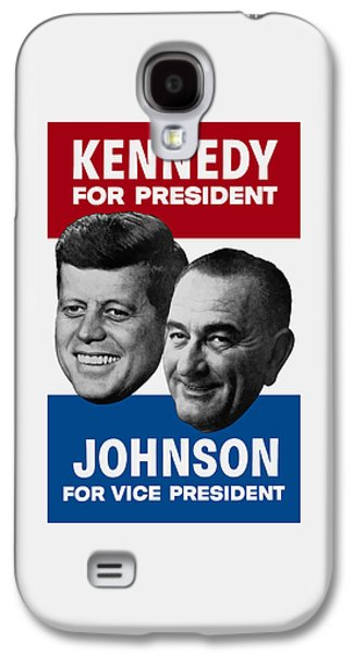 Democrat Mixed Media Galaxy S4 Cases - Kennedy And Johnson 1960 Election Poster Galaxy S4 Case by War Is Hell Store